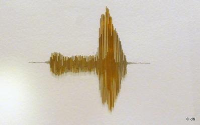 """Charlotte Charbonnel, """"ce que le sonore fait au visuel"""" © DB"""