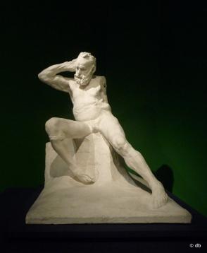 "Auguste Rodin, ""Victor Hugo assis, nu"", plâtre/Musée Rodin / Photo db"