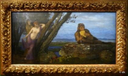 "Arnold Bocklin (1827-1901)""Soir de printemps"", Budapest , Szepmüvészéti Muzeum/Photo db"