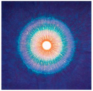"""BANG Hai Ja (1937 - ) """"Naissance de lumière"""", 2014 pigments naturels sur papier © Bang Hai Ja/Jean-Martin Barbut"""