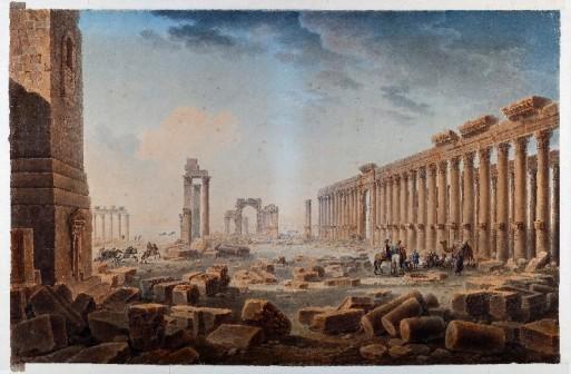 """""""Les Ruines de Palmyre"""", 1821, Musee des beaux-arts de Tours © Dominique Couineau"""