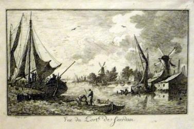 Vue du port de Saerdam, 1776/ MBA Tours © Dominique Couineau