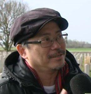 Tim Yip au micro de France3 Picardie, 2016 /DR