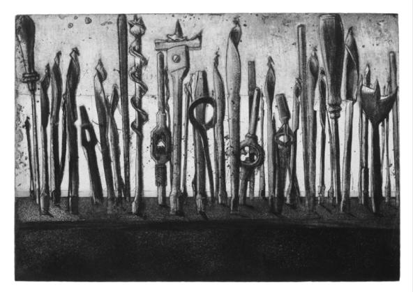 """""""Mèches"""", 1988-1996, gravure sur métal Devorah Boxer"""