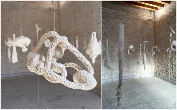 """Pierre Bernard, Exposition """"Ouvrage(s)"""", Château de la Roche-Guyon /Photos Amand Berteigne"""