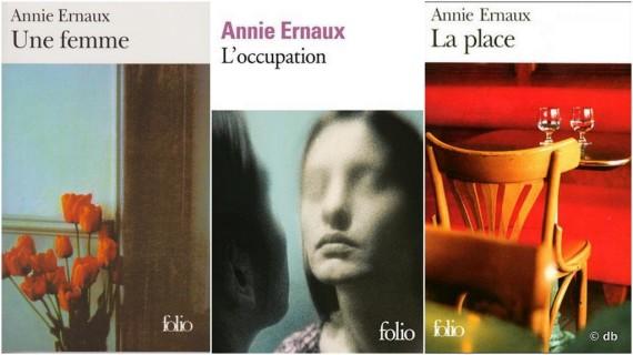 """Quelques titres sur la bonne vingtaine de livres publiés par Annie Ernaux / """"La Place"""" a eu le Prix Renaudot en 1984"""